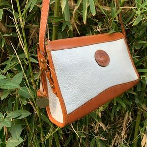 DOONEY & BOURKE white two tone leather classic bag